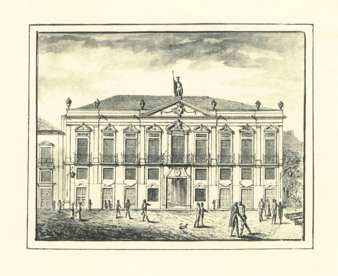 Casa da Câmara - demolida em 1916, para abertura da Av dos Aliados. Lado norte da Praça da Liberdade