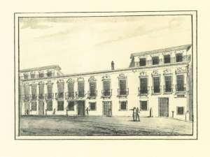 Casa dos Fidalgos da Fábrica - demolida em 1945 agora Hotel Infante Sagres, Praça D. Filipa de Lencastre, 62