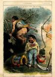 Desenho representando o ano velho de 1881 e o ano novo de 1882, na figura do Zé Povinho, publicado no jornal O António Maria, em 5 de janeiro de 1882. de Rafael Bordalo Pinheiro