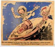 Ilustração alusiva ao Ano Novo de 1966, publicada no jornal O Comércio do Porto de Cruz Caldas. de Cruz Caldas