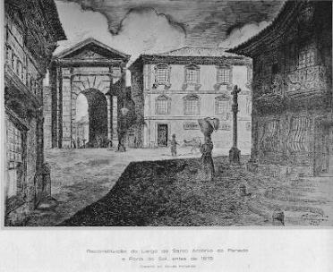 LARGO DE SANTO ANTÓNIO DO PENEDO E PORTA DO SOL ANTES DE 1875