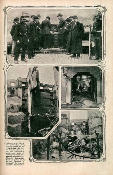 Teatro S. João. Incêndio em 20-04-1908.