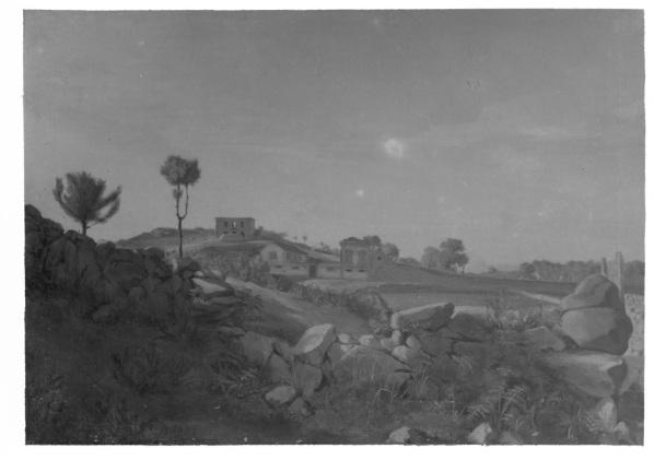 Desenho a óleo de Silva Porto. Reprodução fotográfica de Teófilo Rego, em 1951